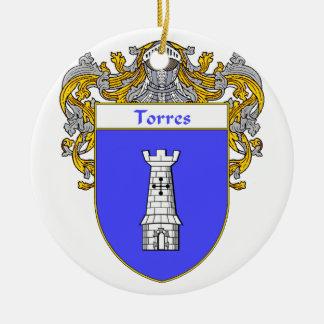 Torres Coat of Arms/Family Crest Ceramic Ornament