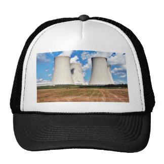 Torres de enfriamiento de una central nuclear gorro de camionero