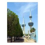 Torres de Kuwait - símbolo de Kuwait Tarjetas Postales