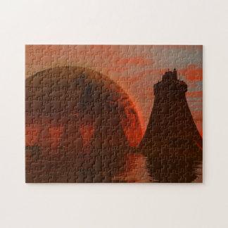 Torres de la ciudad rompecabezas con fotos