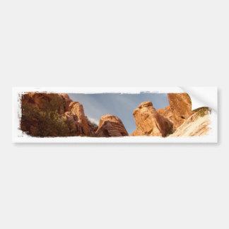Torres de la roca roja pegatina de parachoque