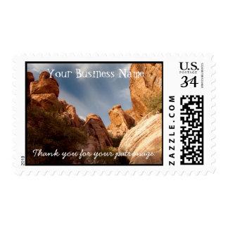 Torres de la roca roja; Promocional Sello Postal