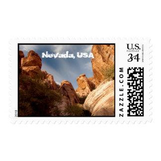 Torres de la roca roja; Recuerdo de Nevada Sellos Postales