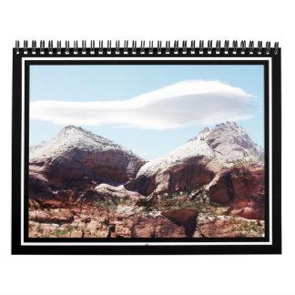 Torres de la Virgen en el parque nacional de Zion Calendario