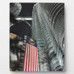 Torres de Petronas en la noche Placas Para Mostrar