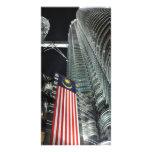 Torres de Petronas en la noche Tarjetas Personales