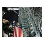 Torres de Petronas en la noche Tarjetas Postales