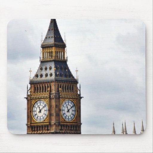Torres de reloj de Big Ben Londres y abadía de Wes Alfombrilla De Ratón