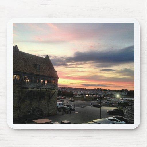 Torres del guardacostas de Narragansett Tapete De Raton
