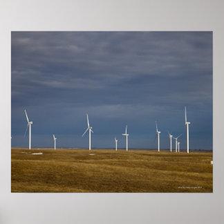 Torres del molino de viento póster