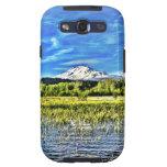 Torres del Mt Adams sobre el lago trout Samsung Galaxy S3 Funda