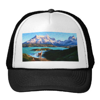 Torres del Paine National Park and the Llama, Chil Trucker Hat