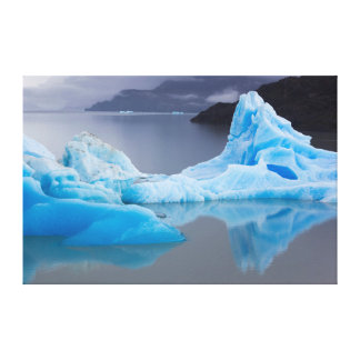 Torres del Paine National Park, Glacial ice Canvas Print