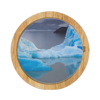 Torres del Paine National Park, Glacial ice Round Cheese Board