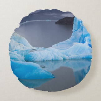 Torres del Paine National Park, Glacial ice Round Pillow