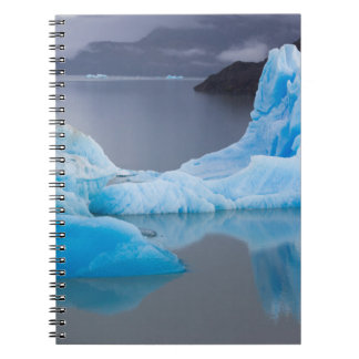 Torres del Paine National Park, Glacial ice Spiral Notebook