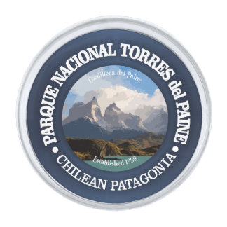 Torres del Paine National Park Silver Finish Lapel Pin