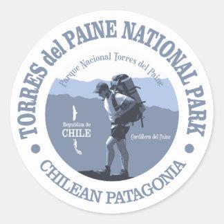 Torres del Paine NP Pegatina Redonda