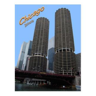 Torres del puerto deportivo de Chicagos Tarjeta Postal