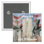 Torres gemelas 9/11 botón de la conmemoración pin