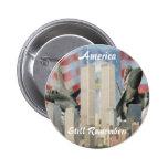 Torres gemelas 9/11 botón de la conmemoración pin redondo de 2 pulgadas