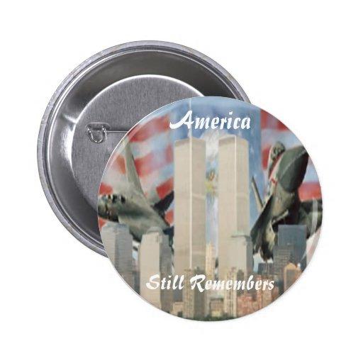 Torres gemelas 9/11 botón de la conmemoración pins