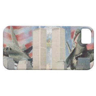 Torres gemelas 9/11 caso de la identificación del funda para iPhone 5 barely there