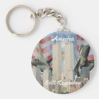 Torres gemelas 9/11 llavero de la conmemoración
