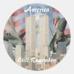 Torres gemelas 9/11 pegatina de la conmemoración