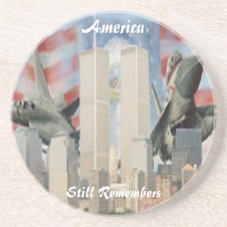 Torres gemelas 9/11 práctico de costa de la conmem posavasos cerveza