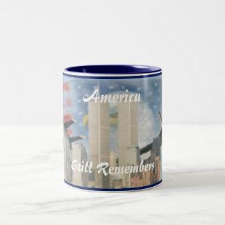 Torres gemelas 9/11 taza de la conmemoración