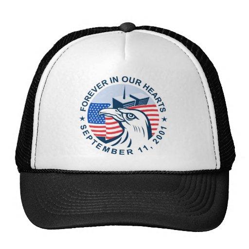 torres gemelas de 9/11 bandera americana conmemora gorra