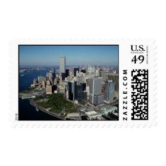 Torres gemelas del horizonte w/The de New York Sellos Postales