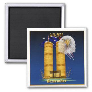 Torres gemelas del oro, imán de la bandera de Eagl