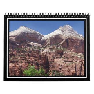 Torres gemelas del río de la Virgen, Zion Calendario De Pared