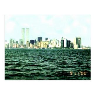 Torres gemelas un año antes de 9/11 tarjeta postal