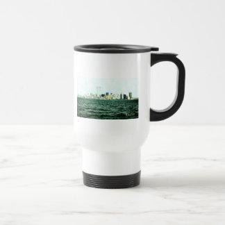 Torres gemelas un año antes de 9/11 tazas de café