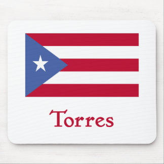 Torres Puerto Rican Flag Mouse Pad