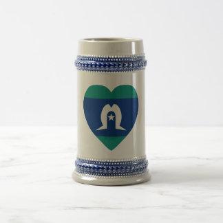 Torres Strait Islands Flag Heart Beer Stein