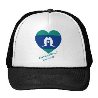 Torres Strait Islands Flag Heart Trucker Hat