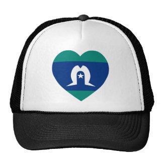 Torres Strait Islands Flag Heart Mesh Hats