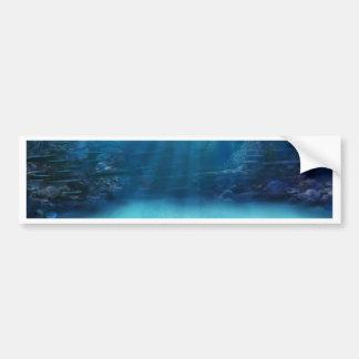 Torres subacuáticas del arrecife de coral etiqueta de parachoque
