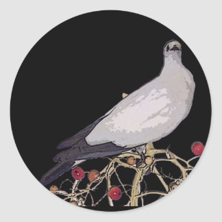 Torresian Imperial Pigeon Classic Round Sticker