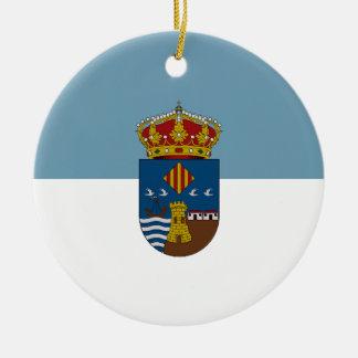 Torrevieja (Spain) Flag Ceramic Ornament