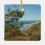 Torrey Pine and California Coastline Ceramic Ornament