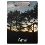 Torrey Pine Sunset II California Landscape Clipboard