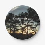Torrey Pine Sunset II California Landscape Paper Plate