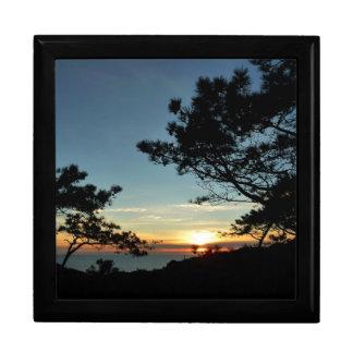 Torrey Pine Sunset III California Landscape Jewelry Box