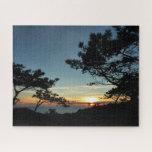 Torrey Pine Sunset III California Landscape Jigsaw Puzzle