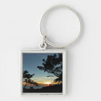 Torrey Pine Sunset III California Landscape Keychain